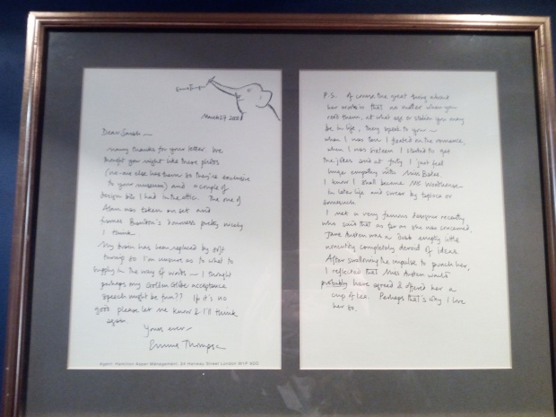 Letter written by Emma Thompson to the Jane Austen Centre, Bath
