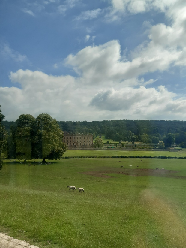 View of Chatsworth House in the Peak District